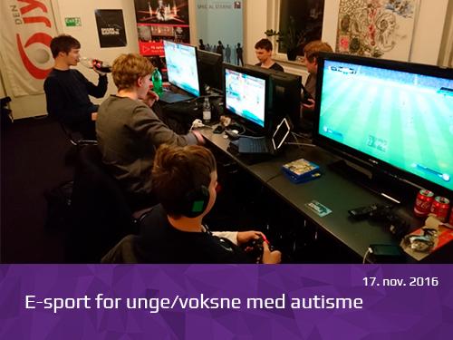 E-sport for unge voksne med autisme - presserum