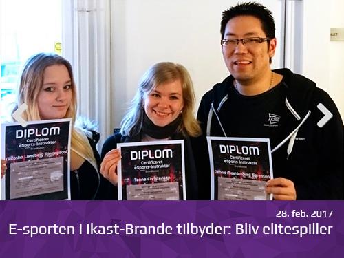 E-sporten i Ikast-Brande tilbyder: Bliv elitespiller - presserum