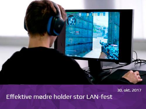 Effektive mødre holder stor LAN-fest - presserum