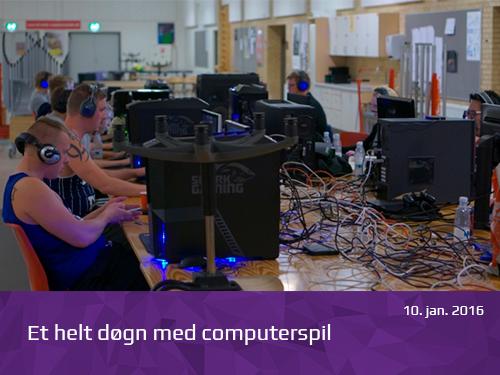 Et helt døgn med computerspil - presserum