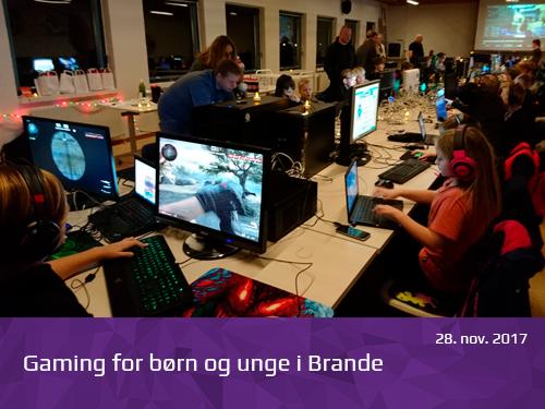 Gaming for børn og unge i Brande - presserum