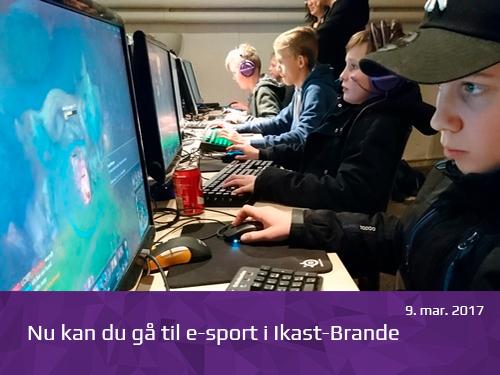 Nu kan du gå til e-sport i Ikast-Brande - presserum