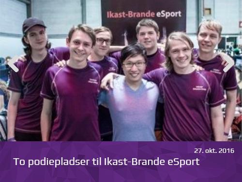 To podiepladser til Ikast-Brande eSport - presserum
