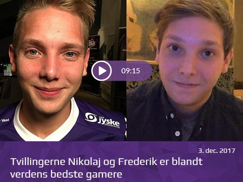 Tvillingerne Nikolaj og Frederik er blandt verdens bedste gamere - presserum